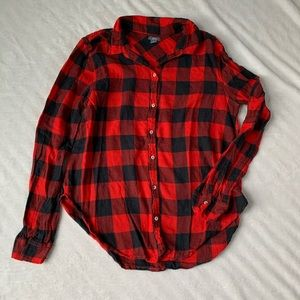 Aerie Buffalo Check Button Up
